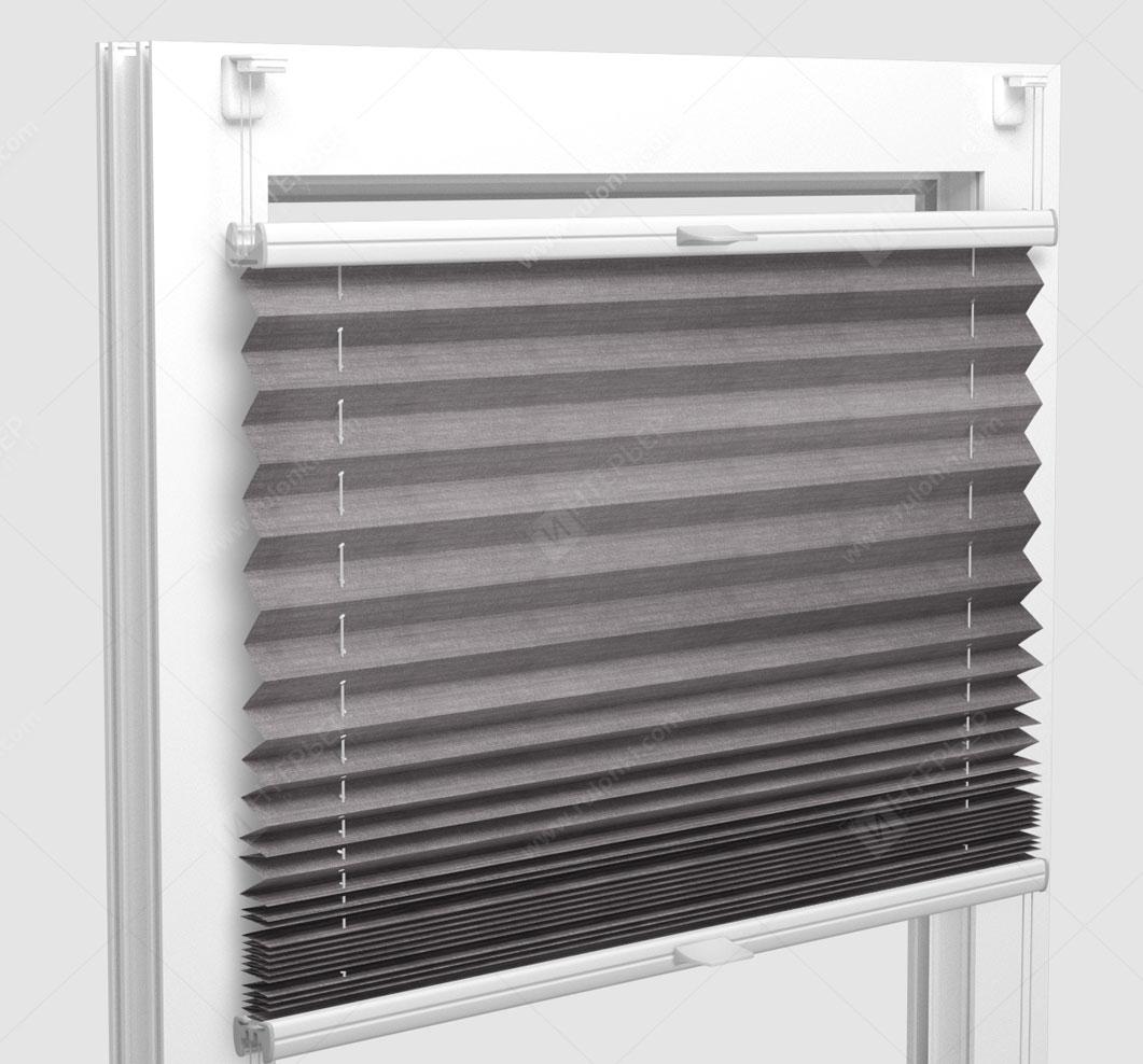 Шторы Плиссе - Флаер перл серый на пластиковые окна