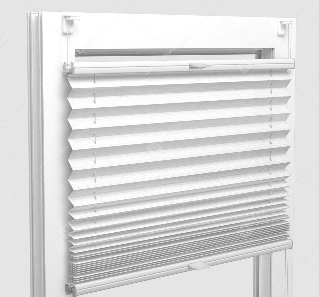 Шторы Плиссе - Гарда перл белый на пластиковые окна