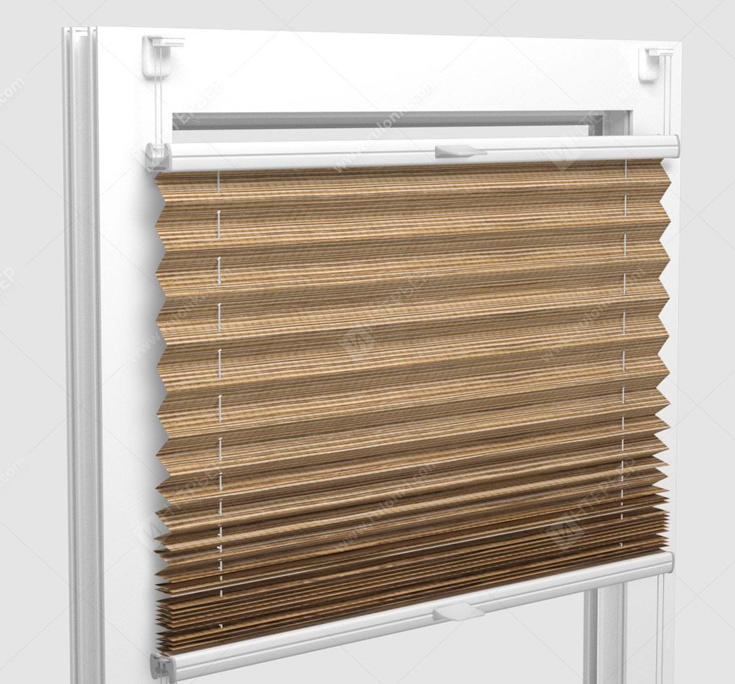 Шторы Плиссе - Гарда светло-коричневый на пластиковые окна