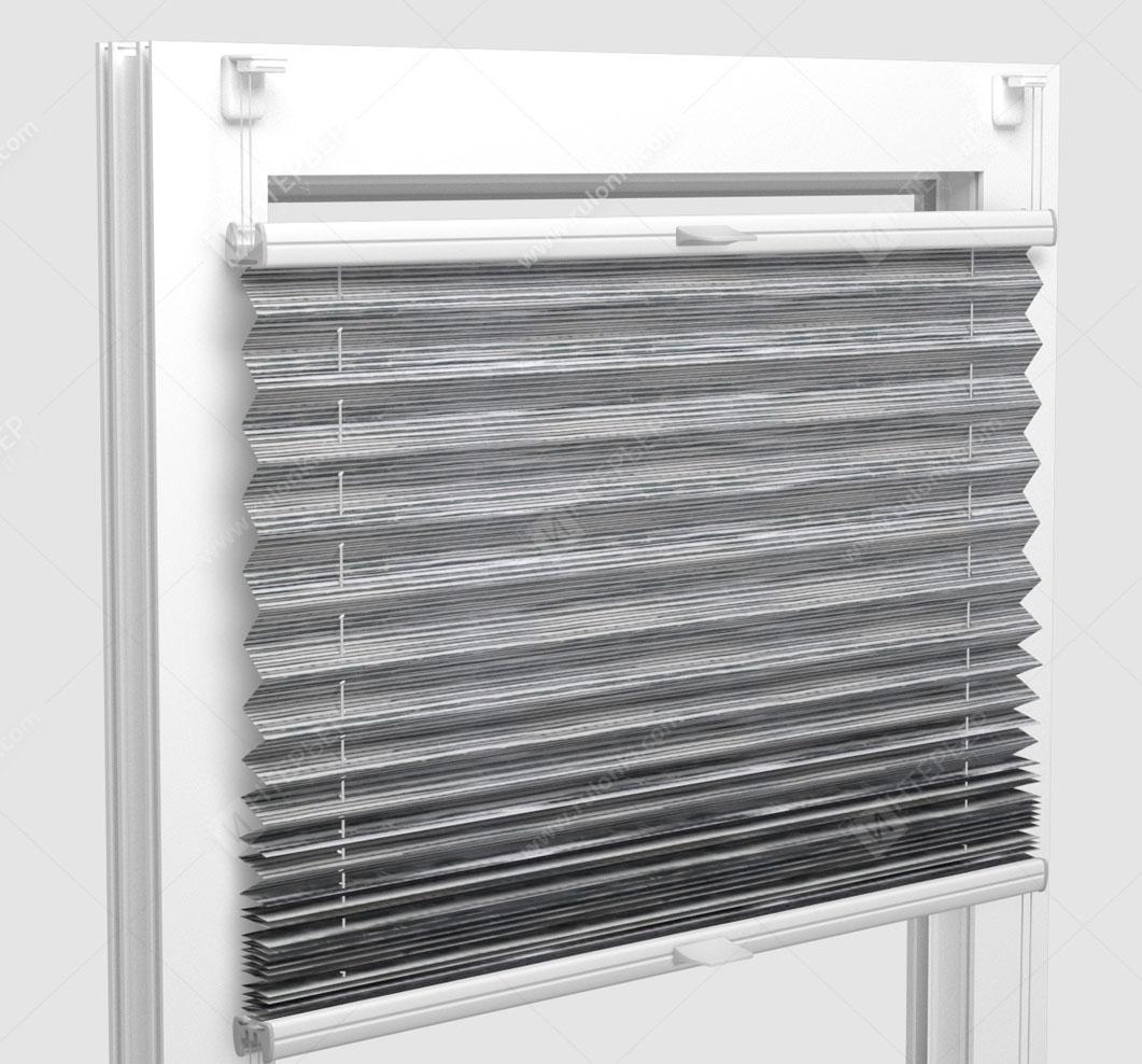Шторы Плиссе - Гарда светло-серый на пластиковые окна