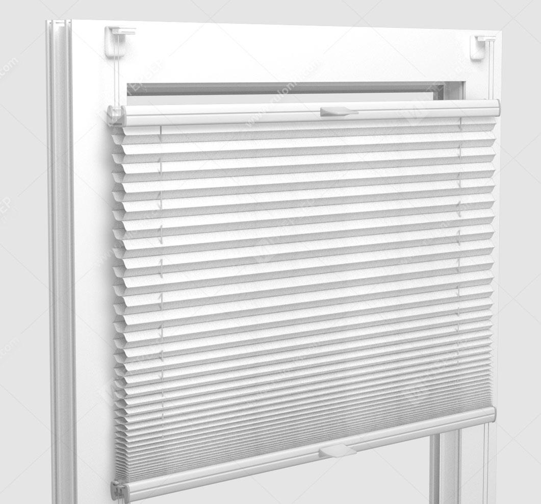 Шторы Плиссе - Капри белый на пластиковые окна