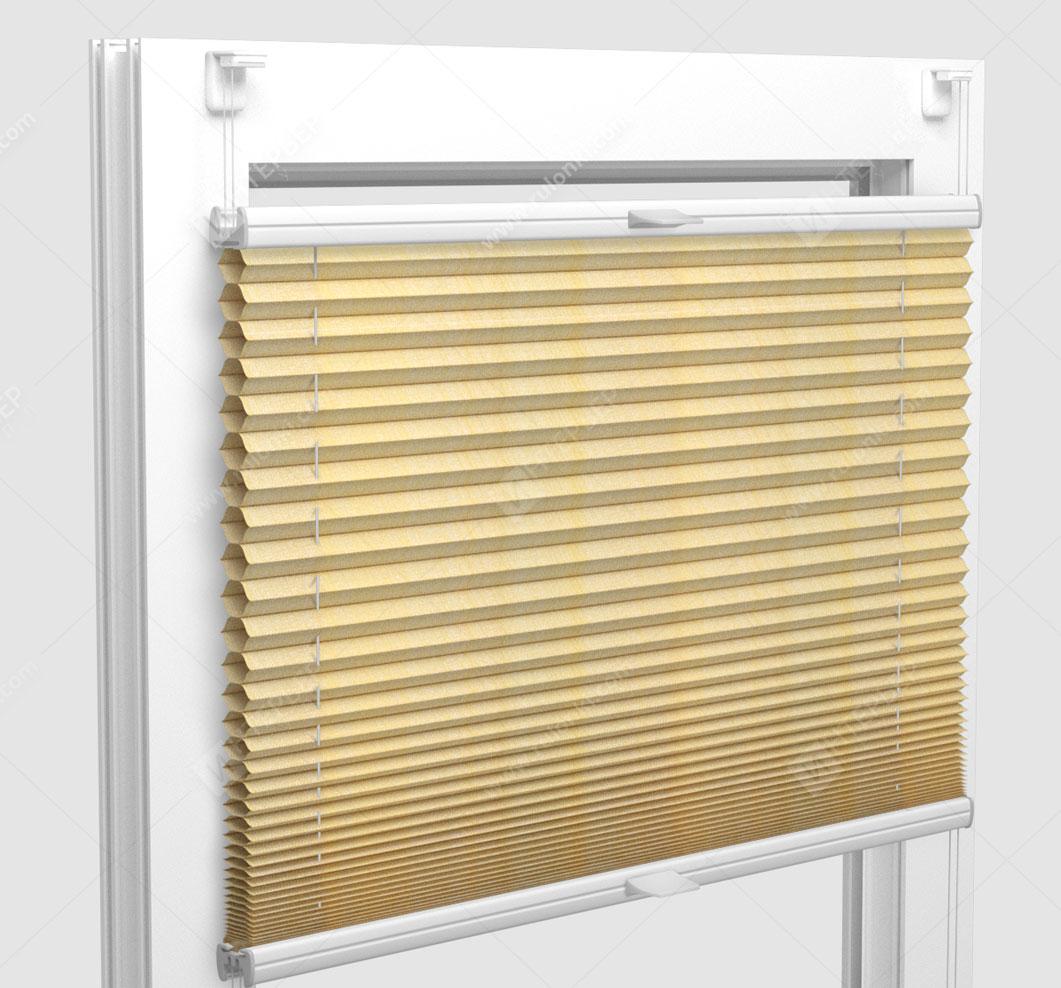 Шторы Плиссе - Капри желтый на пластиковые окна