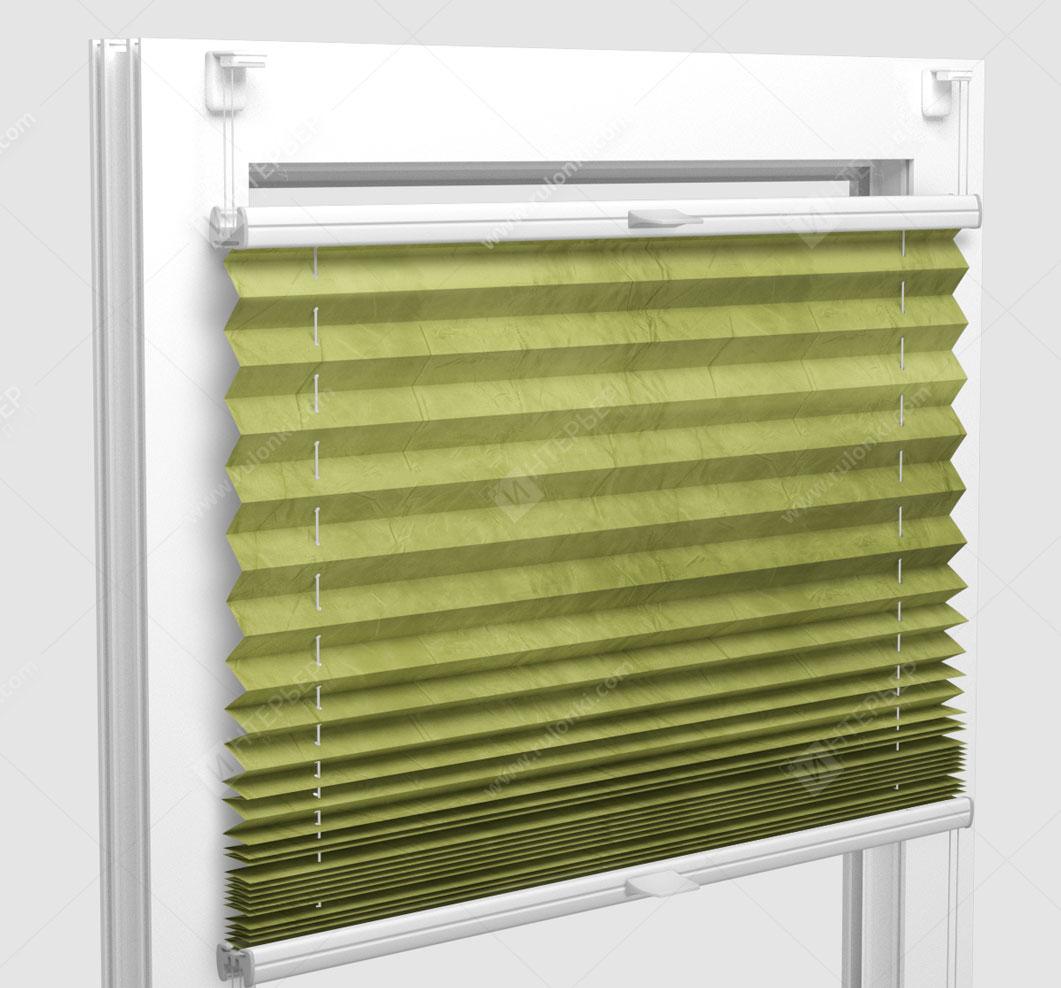 Шторы Плиссе - Краш перл лайм на пластиковые окна
