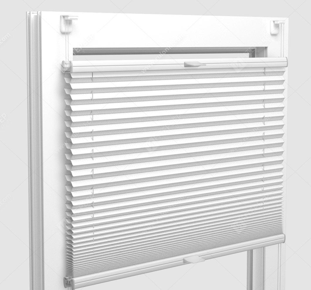 Шторы Плиссе - Леванто белый на пластиковые окна