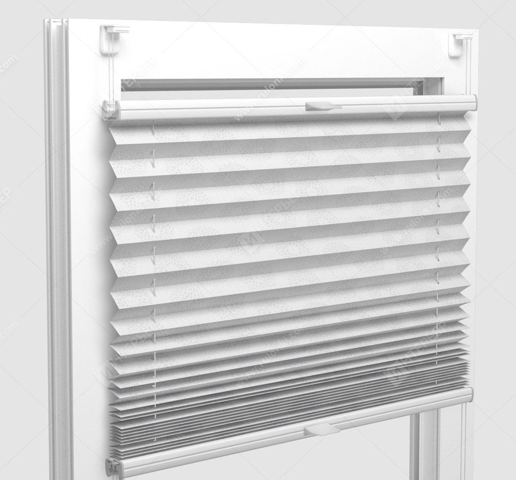 Шторы Плиссе - Новелла светло-бежевый на пластиковые окна