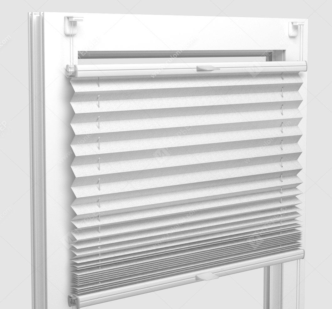 Шторы Плиссе - Шайн белый на пластиковые окна