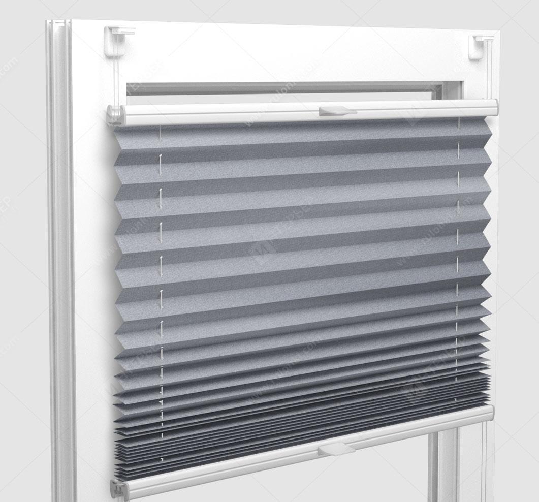 Шторы Плиссе - Шайн металлик на пластиковые окна