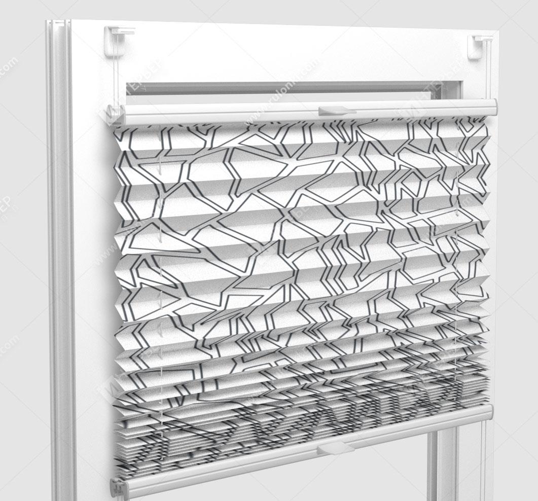 Шторы Плиссе - Сальва граффик на пластиковые окна