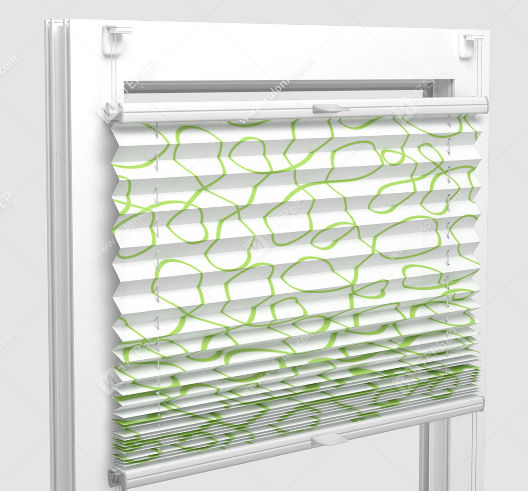 Шторы Плиссе - Тивали лайм на пластиковые окна