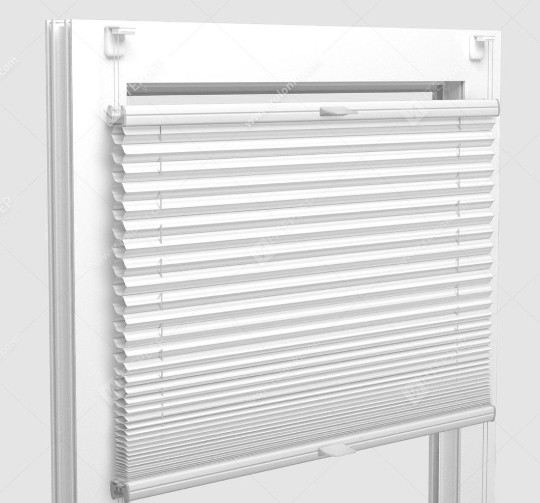 Шторы Плиссе - Тренто белый на пластиковые окна