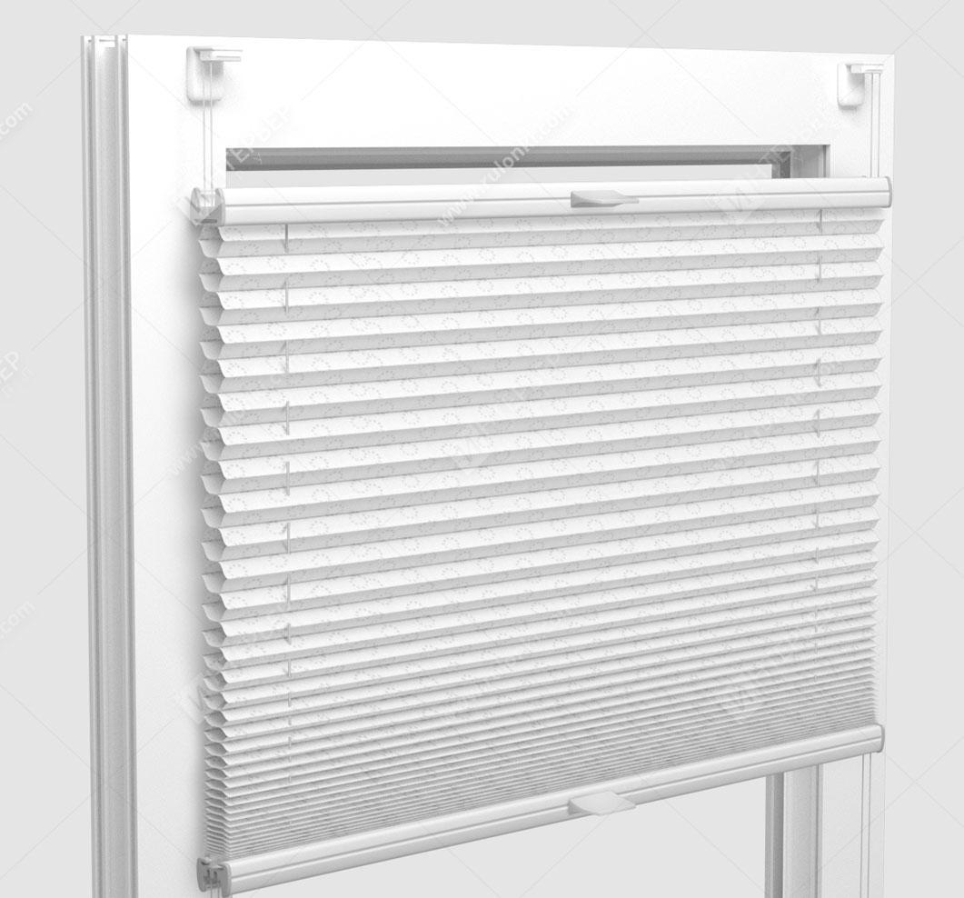 Шторы Плиссе - Тренто серебро на пластиковые окна