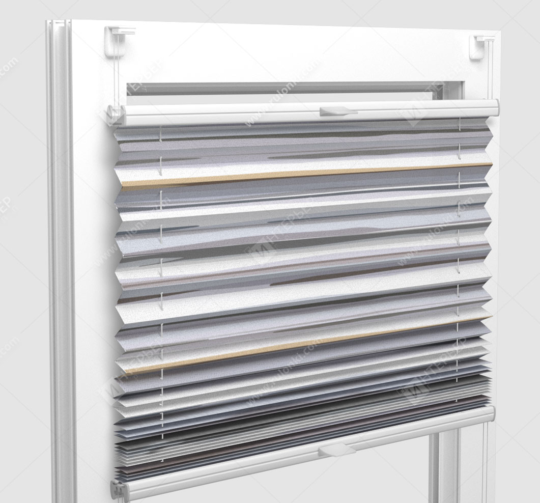 Шторы Плиссе - Васто серый на пластиковые окна