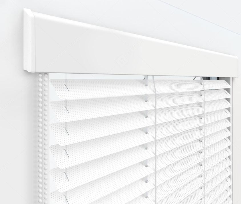 Жалюзи Изолайт 25 мм на пластиковые окна - цвет 100 перфорированный