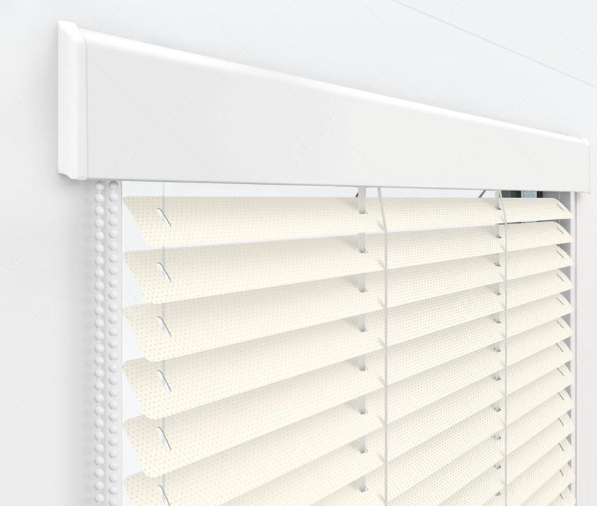 Жалюзи Изолайт 25 мм на пластиковые окна - цвет 23 перфорированный