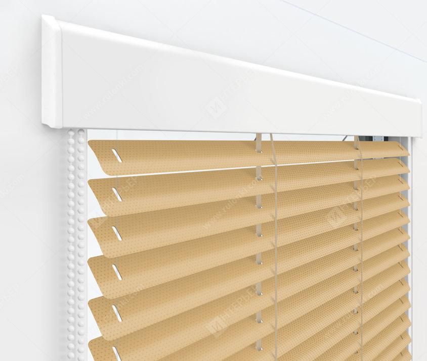 Жалюзи Изолайт 25 мм на пластиковые окна - цвет 52 перфорированный